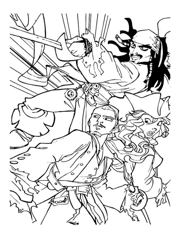 Jack Pirates Of The Caribbean Ready To Fight Coloring Page For Kids Coloring  Pages, Coloring Pages For Kids, Pirates Of The Caribbean