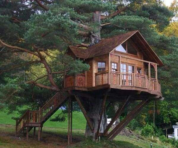 6x Inspirerende Boomhutten : Pin van kimberly sprowls giddens op tree houses pinterest