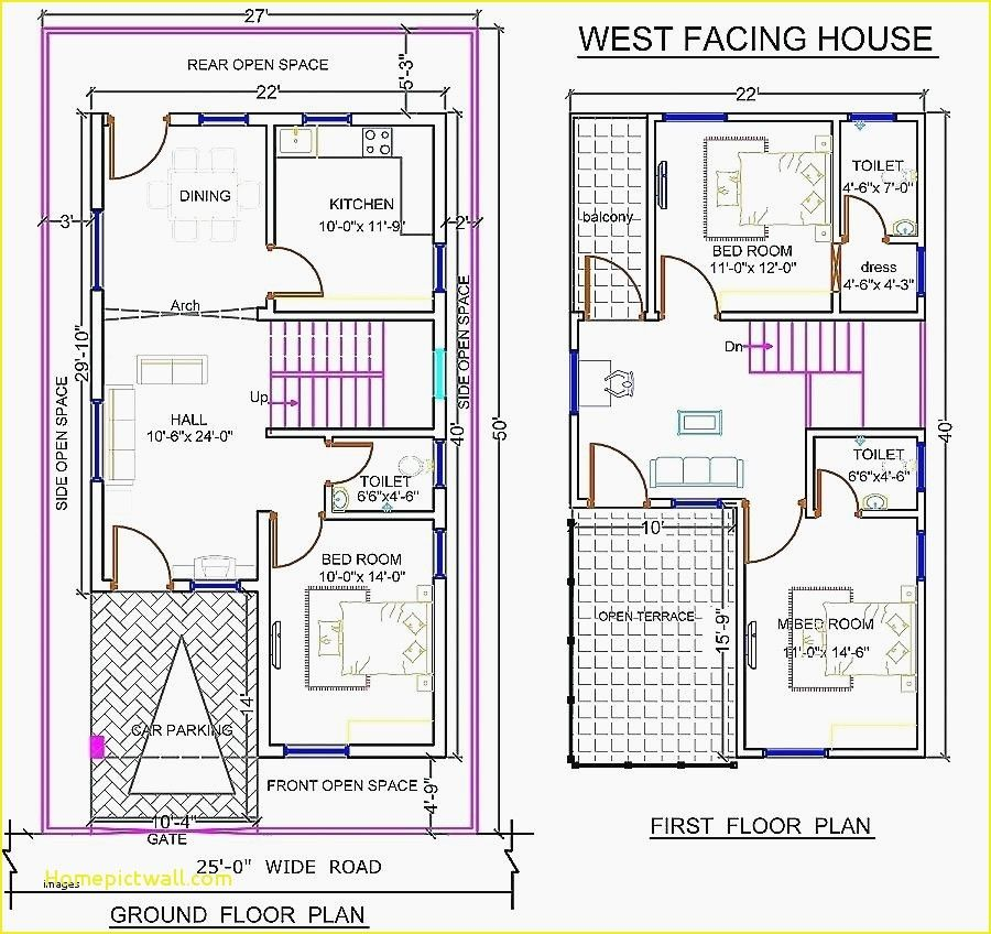 Duplex House Plans 400 Sq Ft West Facing House Duplex Floor