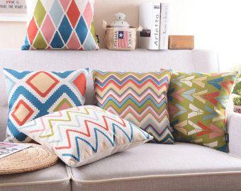 schwere baumwolle sofa kissen diamond geometrischen abstraktion skandinavischen stil muster. Black Bedroom Furniture Sets. Home Design Ideas