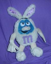'M & M s BLUE  PLUSH TOY DRESSED AS RABBIT, COLLECTORS ITEM (#B71-35)