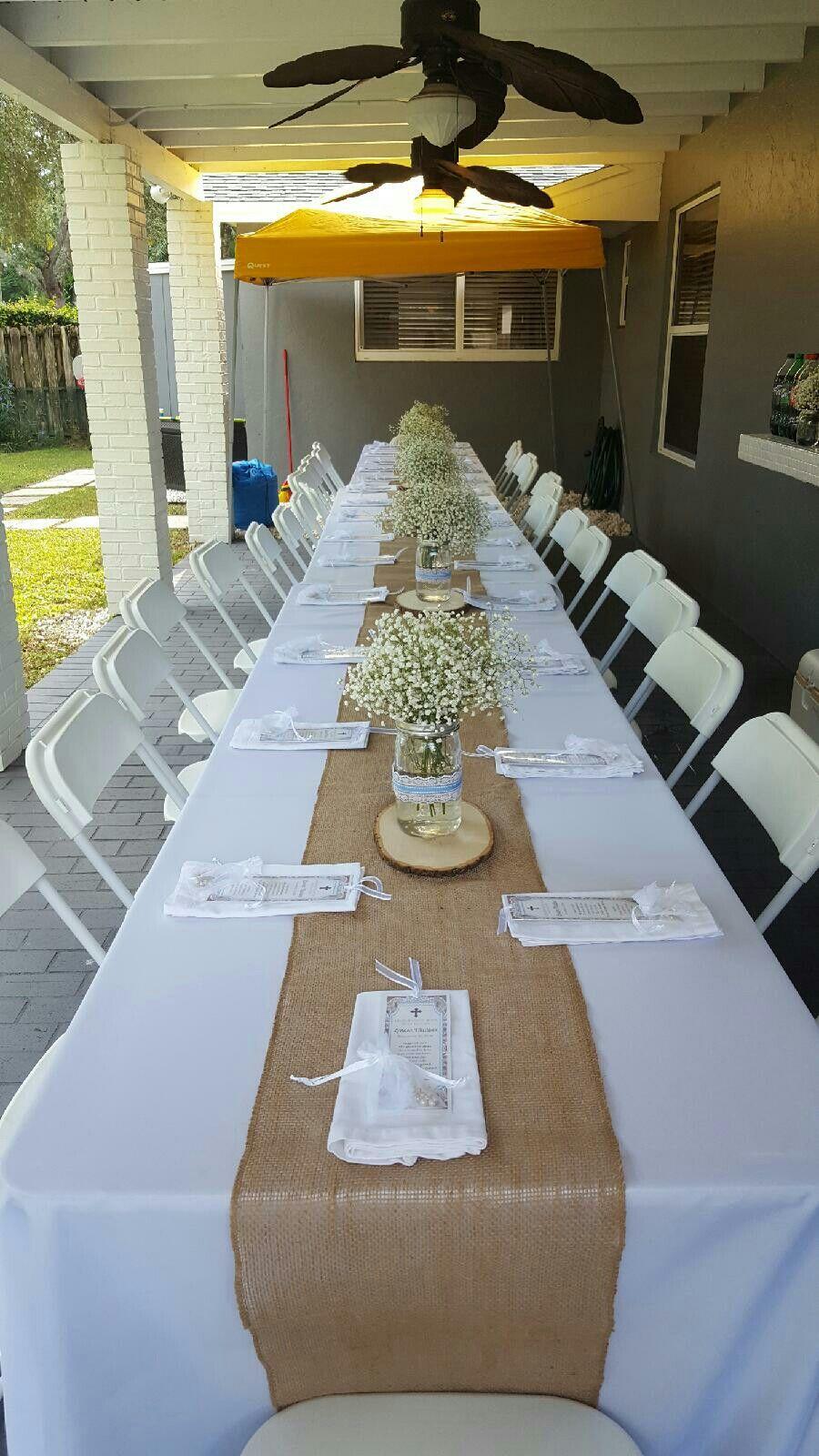 Decoraci n bautizo projects to try baptism party for Decoracion bautizo en casa