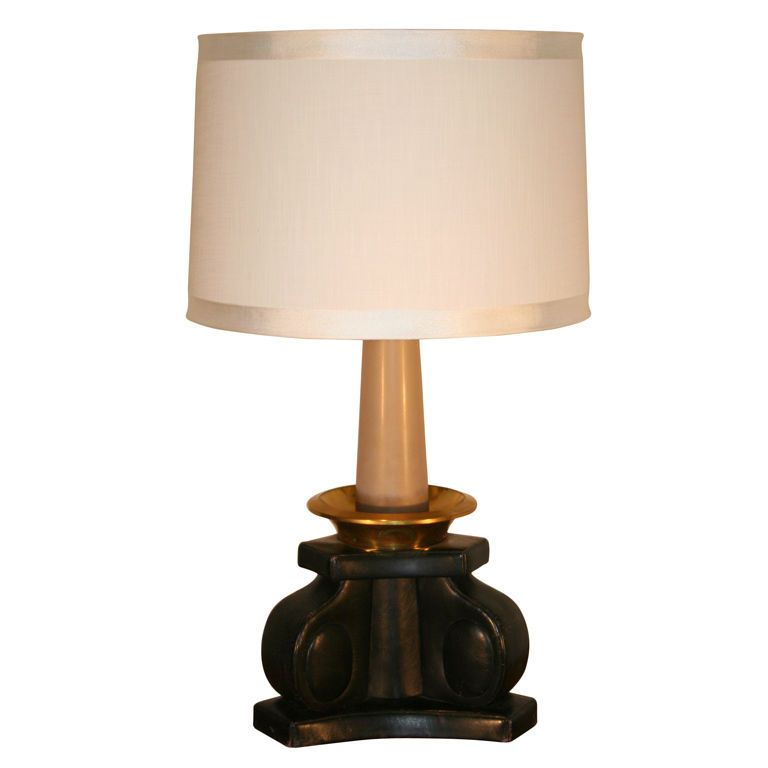 Bronze And Leather Lamp By Etienne Kohlmann Bronze Lamp Lamp Table Lamp
