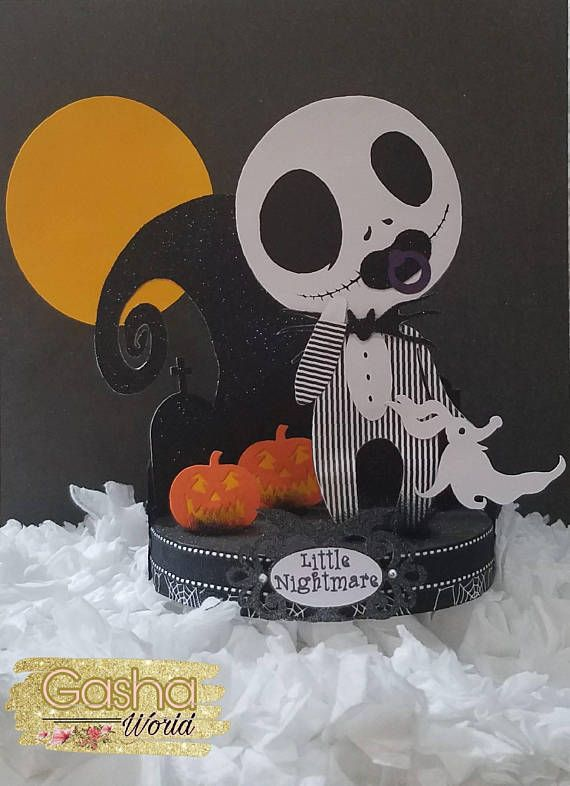 Jack Skellington Baby Shower Corsage Nightmare Before Christmas Pin