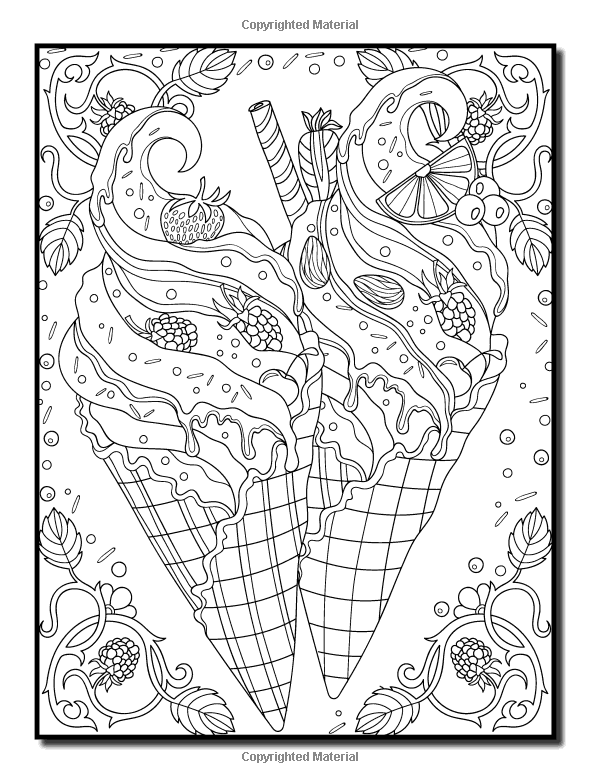 Amazon Delicious Desserts An Adult Coloring Book With Whimsical Cake Designs
