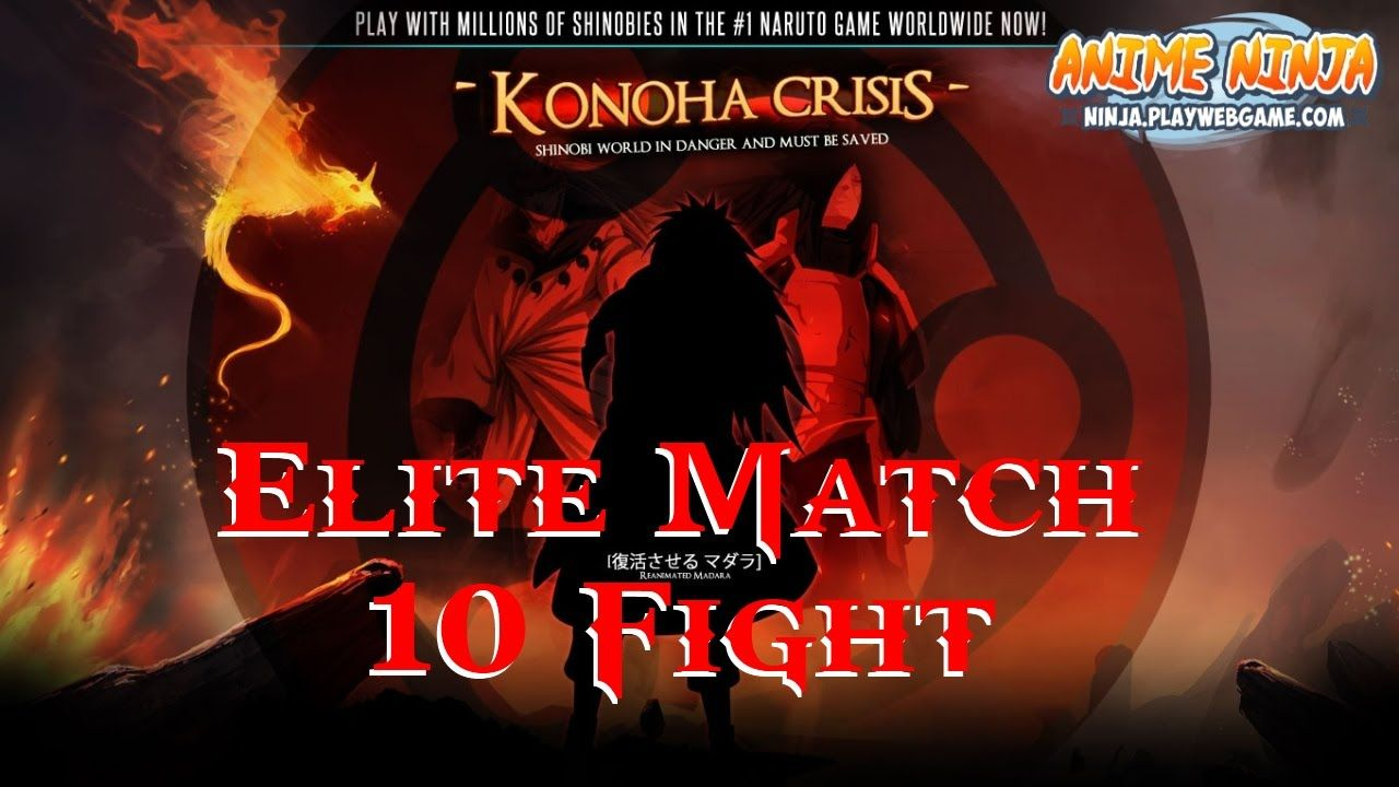 Anime Ninja Elite Match 10 Fight Naruto Game Browser