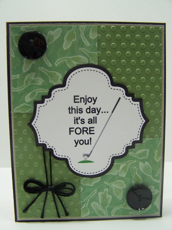 Stampin up handmade greeting card happy birthday card golf included is one handmade golf birthday greeting card featuring the greeting enjoy this day m4hsunfo Image collections