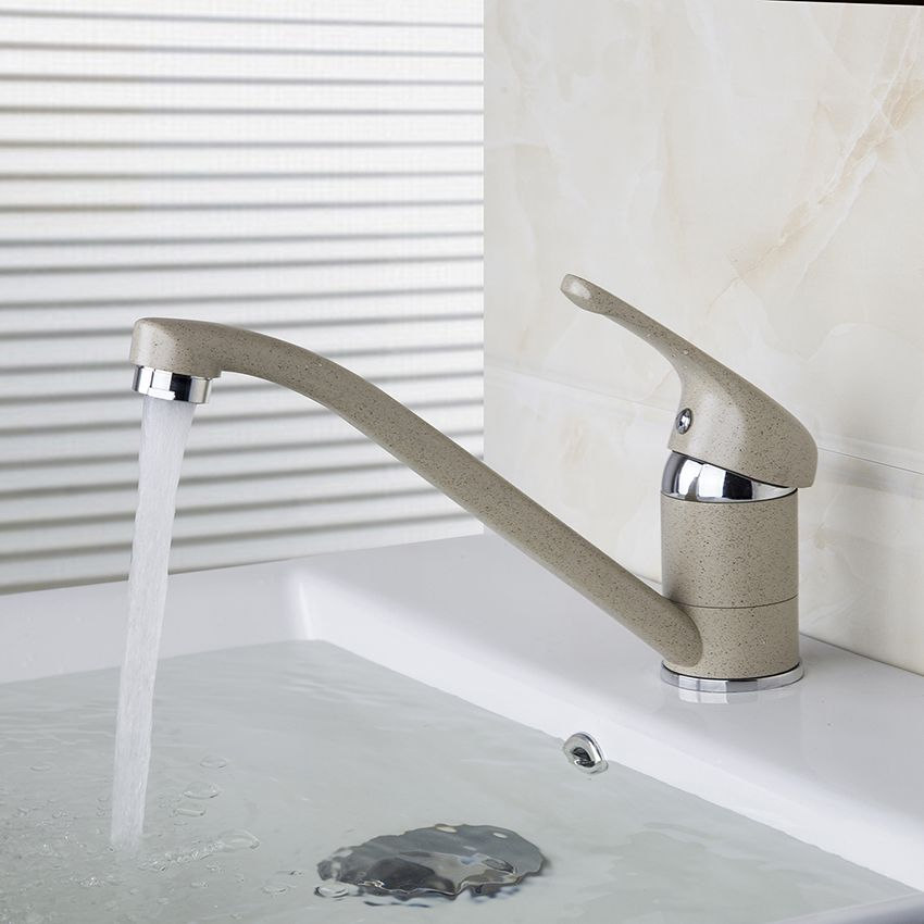 Contemporary Painting Basin Faucet Deck Mounted Single Handle Single ...