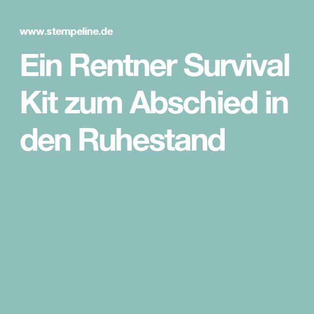 ein rentner survival kit zum abschied in den ruhestand. Black Bedroom Furniture Sets. Home Design Ideas