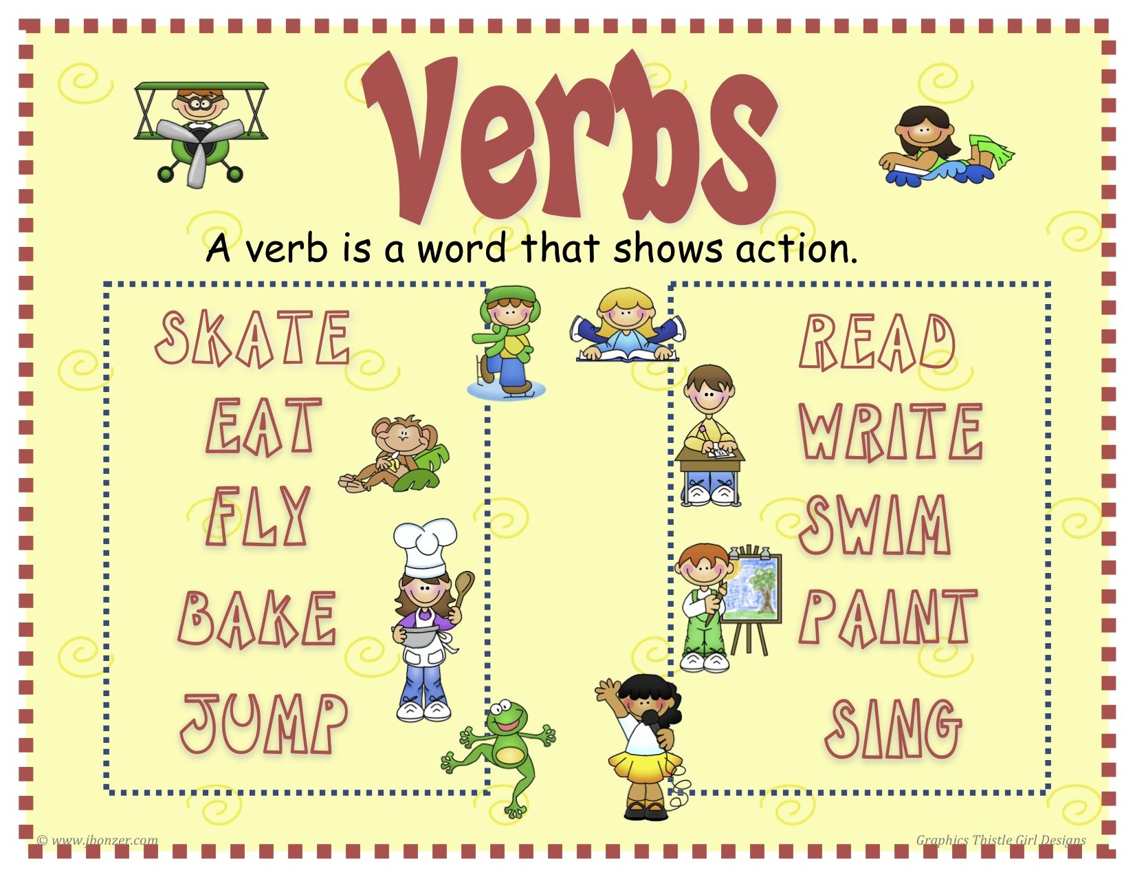 A Verb Is A Word That Describes An Action Or Occurrence Or