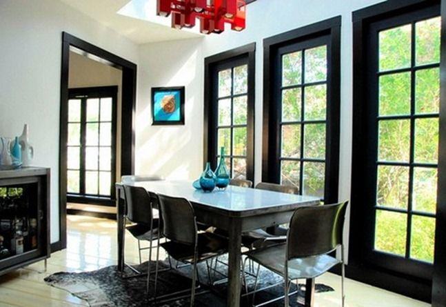 Pin By Brandis Perdue On My Style Black Baseboards Black Trim Interior Black Window Trims