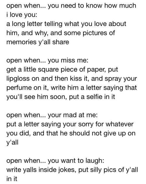 Open When Letters  Ideas    Diy Boyfriend Gifts