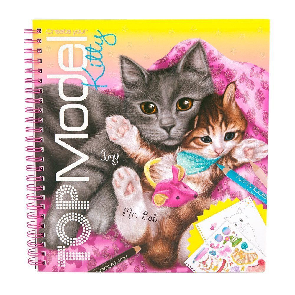 Let Your Little One Create Their Very Own Top Model Kitten With This Fabulous Colouring Book