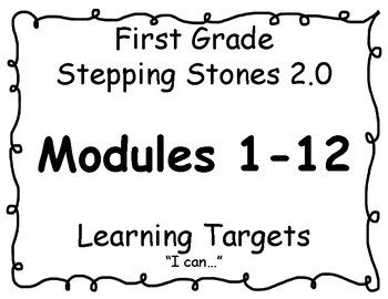 First Grade Stepping Stones 2.0 Modules 1-12 Learning
