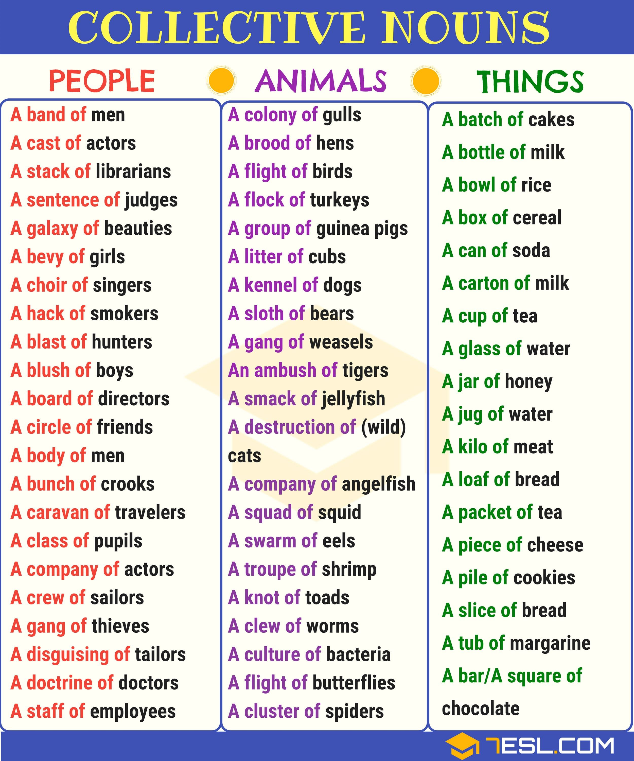 Collective Nouns: Useful List & Examples In English (With