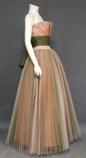 Tulle 1950s Ball Gown