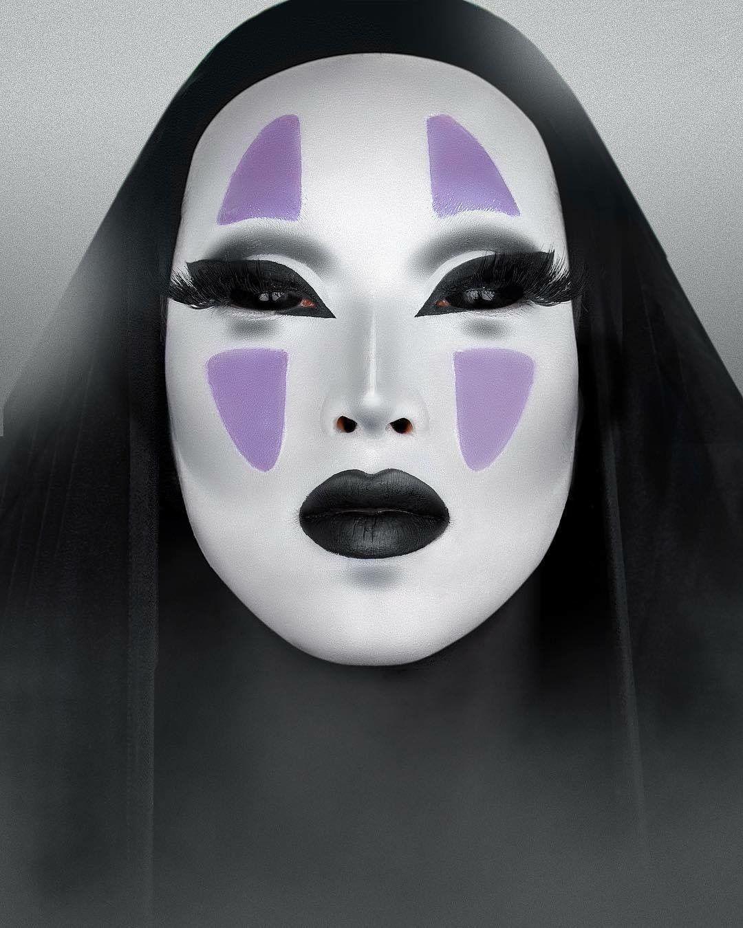 No Face Spirited Away Makeup Makeup Fantasy Makeup Halloween Costumes Makeup