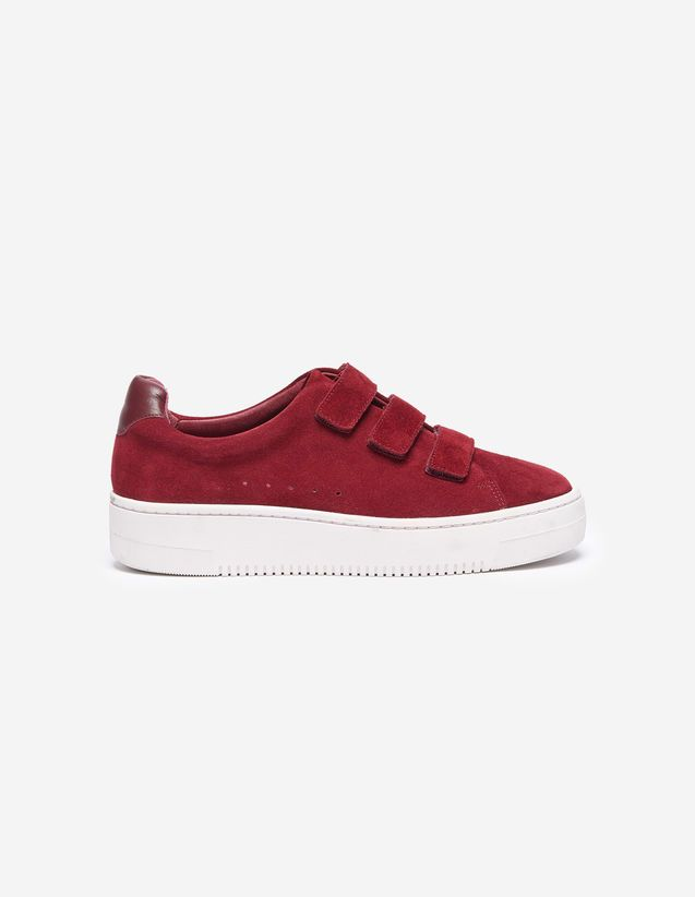 37134a7d582a Red, | sandro-paris.com | FALL in 2019 | Shoes, Sandro, Red sneakers