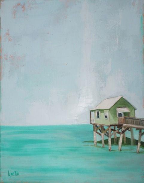 Loretta Trevino Galveston Tx Etsy Painting Coastal Art
