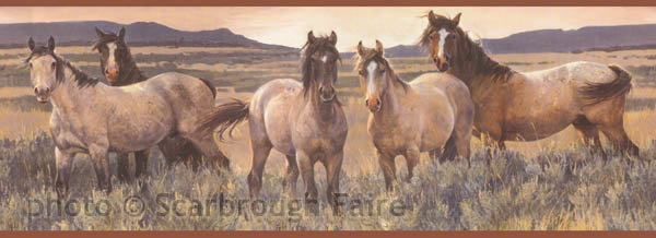 Western Theme Backgrounds | Mustang Wallpaper Border CH7813BD Wild Western  Horses | Scarbrough . - Western Theme Backgrounds Mustang Wallpaper Border CH7813BD Wild