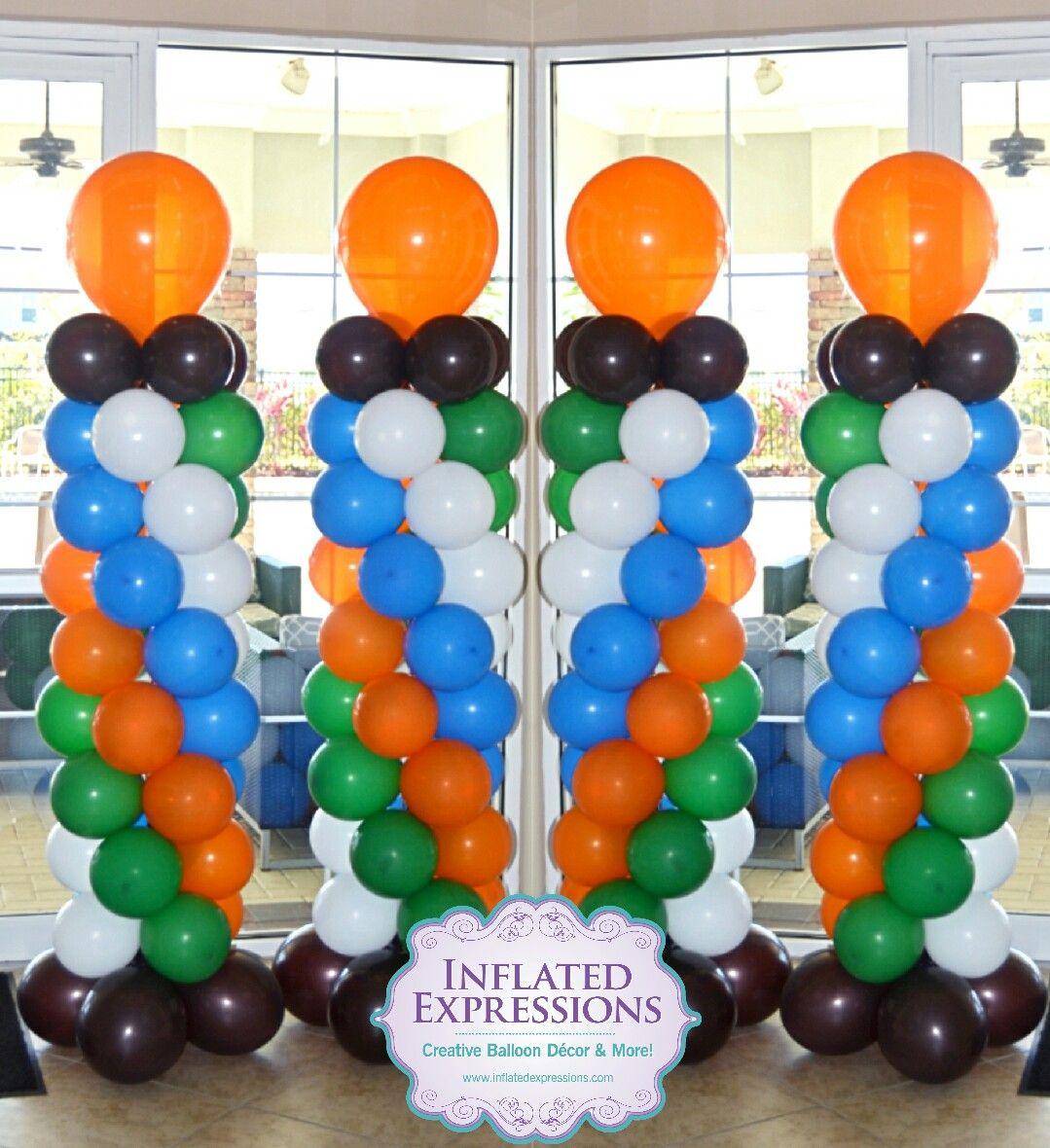 Sports Themed Balloon Decor Sports Theme Balloon Columns Sports Themed Balloon Decor