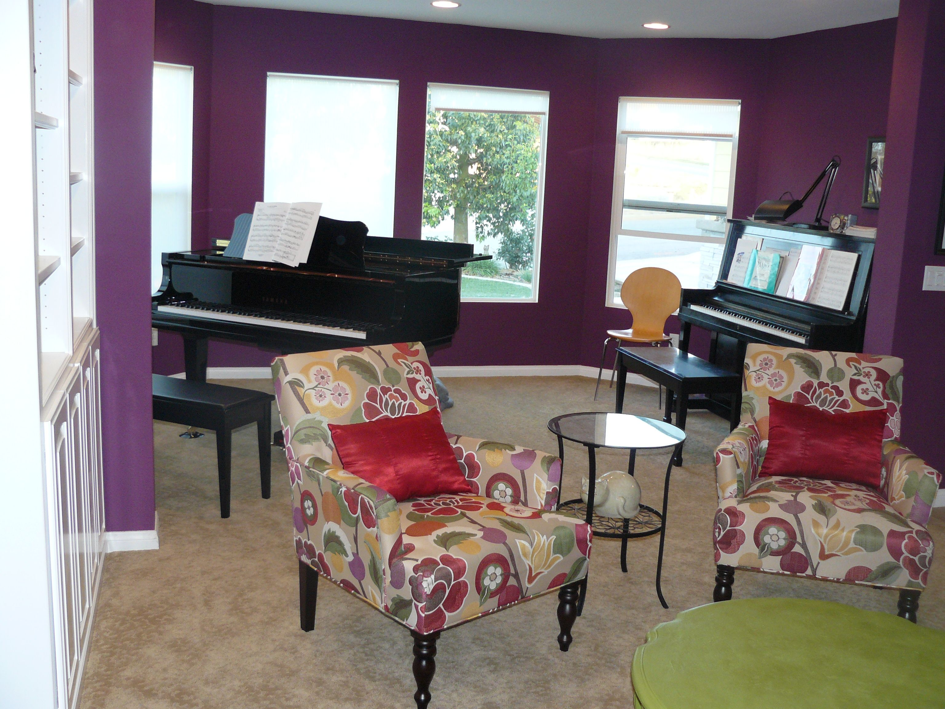 Brightly colored living room featuring Pier 1 Bold Floral Liliana
