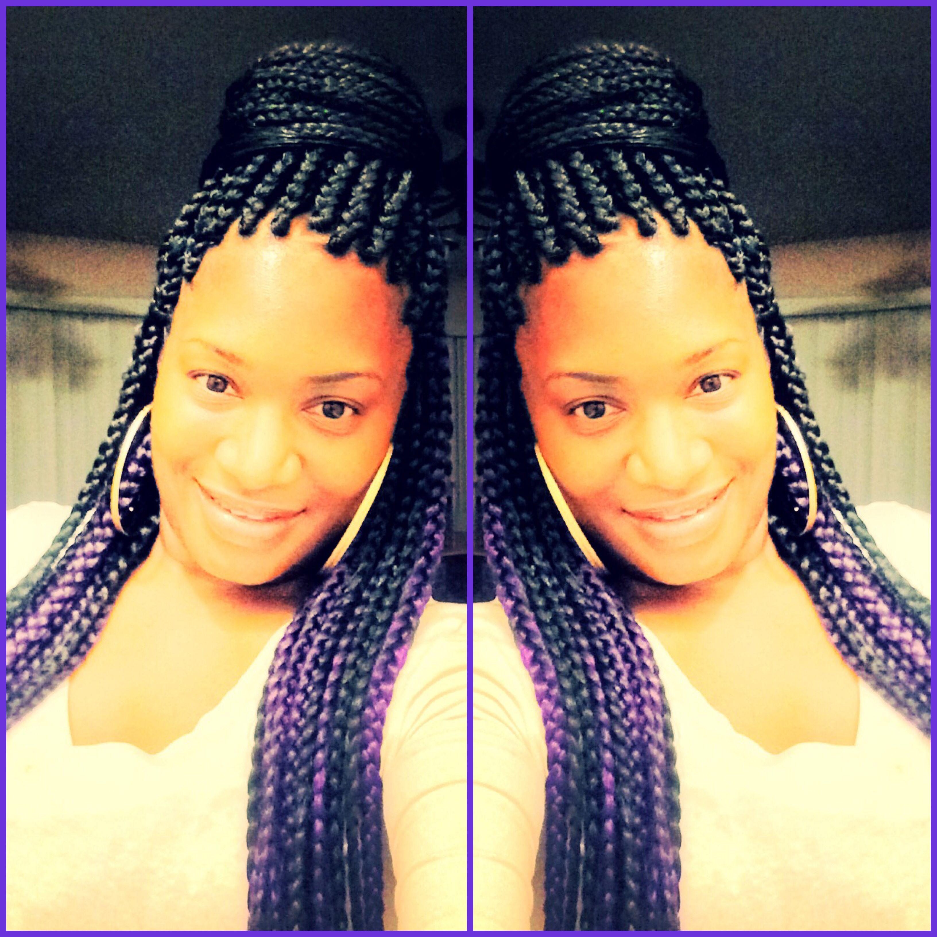 Purple Box Braids Arin Pinterest Purple Box Braids