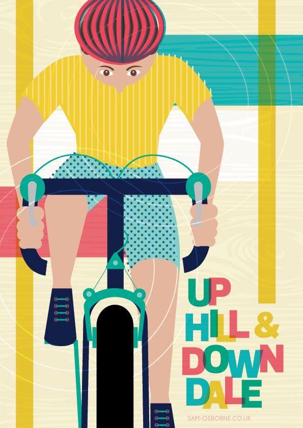 Bicycle Illustration Tour De France Cycling