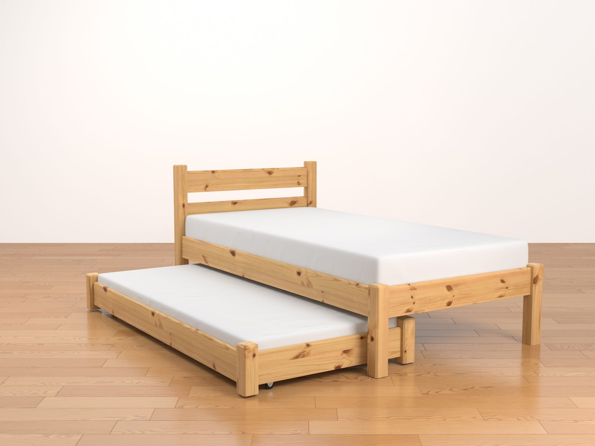 Mountrose Single Trundle Bed Frame With 2 Drawers Trundle Bed