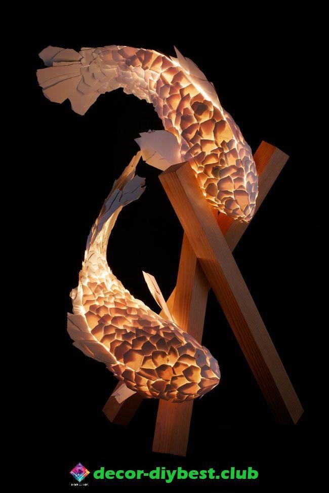kronleuchter kronleuchter   Frank gehry, Fish lamp, Gehry