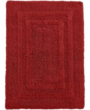 Hotel Collection Cotton Reversible 21 X 33 Bath Rug Purple
