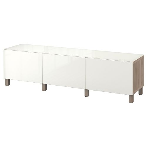 Ida Coffee Tables High Gloss White With Grey Pull Out: BESTÅ Combi Almacenaje Cajones