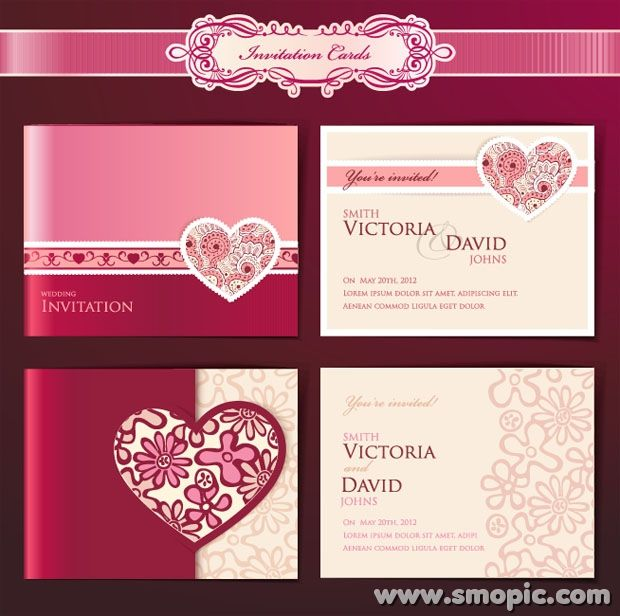 Dream Angels Wedding Invitation Card Cover Background Design