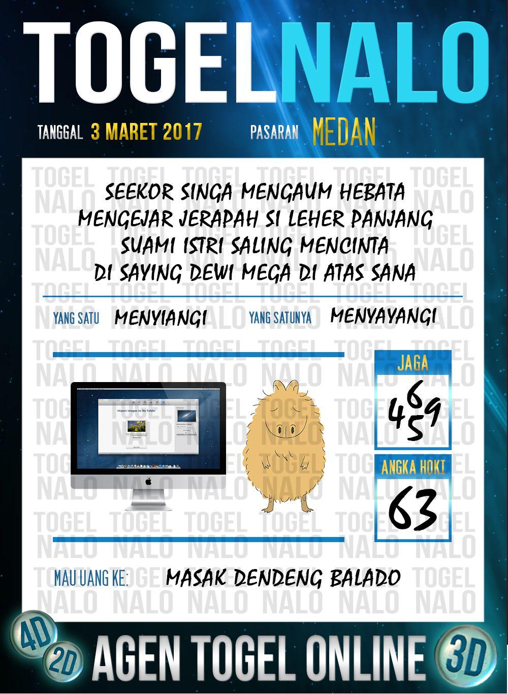 Angka 4d Togel Wap Online Togelnalo Medan 3 Maret 2017 22 Januari Januari Tahu