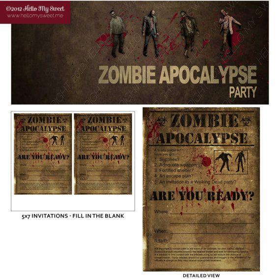 Walking dead invitation zombie apocalypse party halloween walking dead invitation zombie apocalypse party halloween birthday filmwisefo