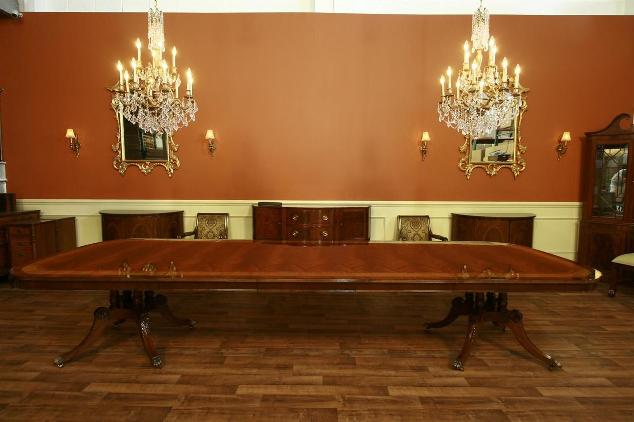 Extra Large Dining Table Long Dining Table With 3 Leaves 13ft