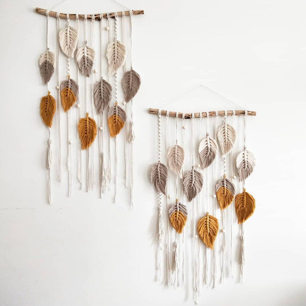 """""""Falling Leaves"""" Macrame Wall Hanging The Knot and Tile"""