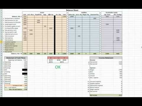 ms excel for accounting