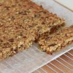 Museli bar slice  Ingredients :  65 g brown rice    1T golden flaxseeds (linseeds)   1T chia seeds   half a Pink lady apple (or any sweet apple)   200g your choice of dried fruit (e.g. dates, apricots, cranberries, sultanas, goji berries etc.)   90g whole oats   70g rice bubbles (preferably brown) 25g coconut, dessicated   70g Raw caster sugar   2T pepitas or sunflower seeds   50g coconut or avocado oil   2 large eggs   50g agave syrup or honey   100g white chocolate, melted (optional)