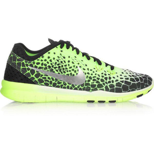 Nike Free Tr 5 Print mesh sneakers ($135) ❤ liked on