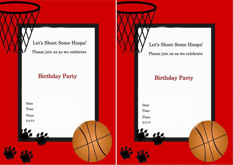 Basketball Birthday Invitations – Birthday Printable | classroom ...