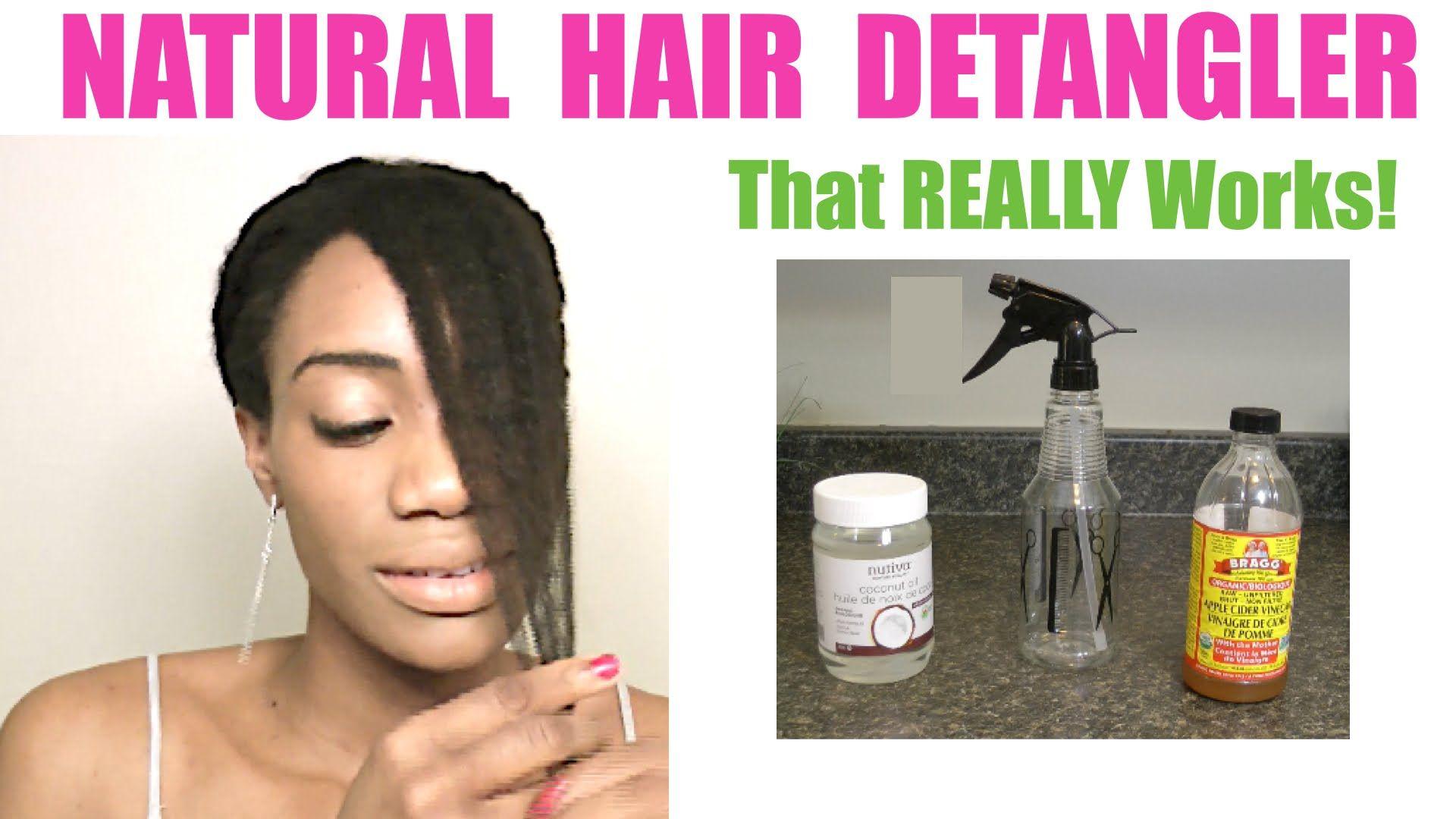Diy hair detangler apple cider vinegar coconut oil
