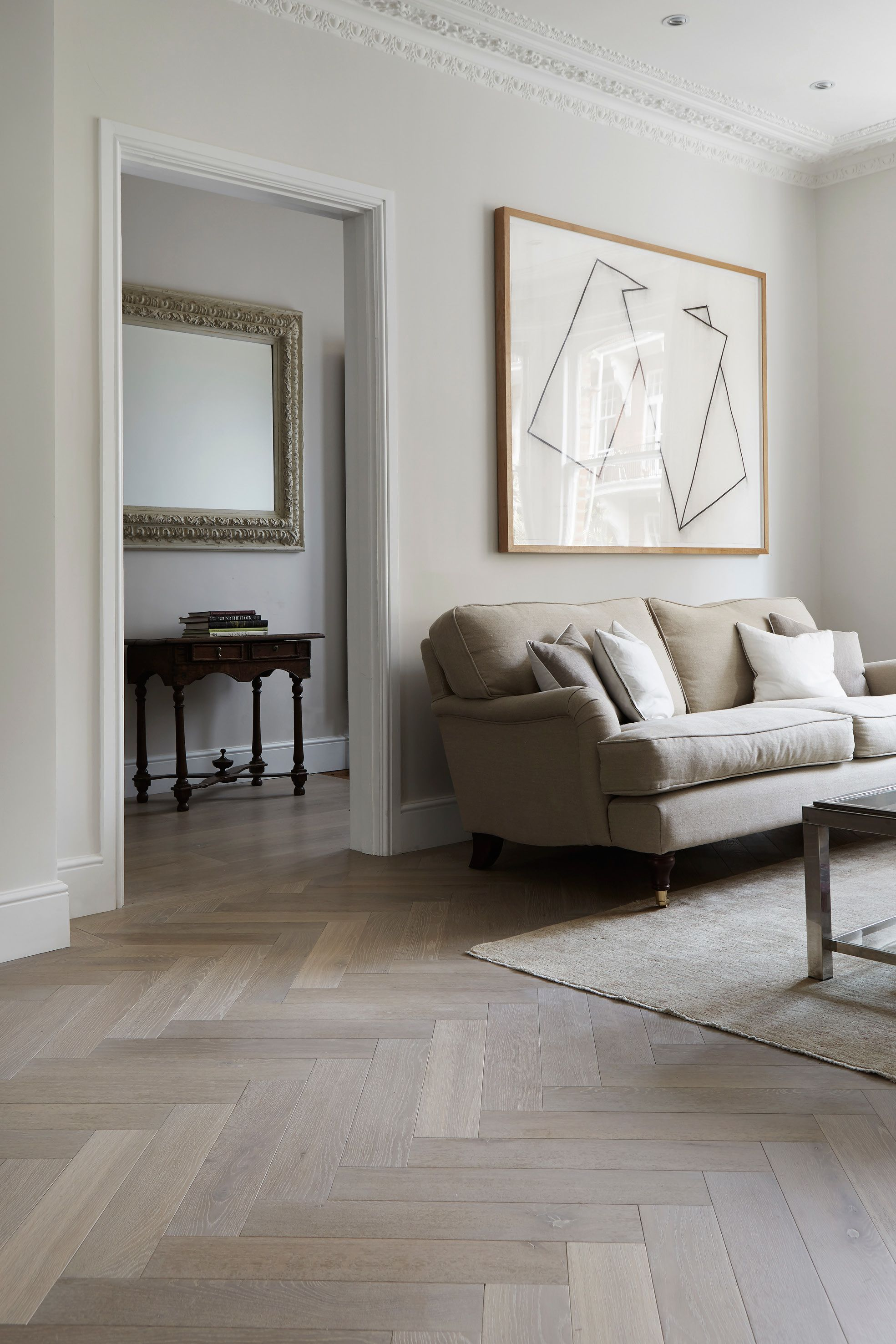 living room flooring ideas uk half moon tables furniture fossil grey french oak in london trunk surfaces art that