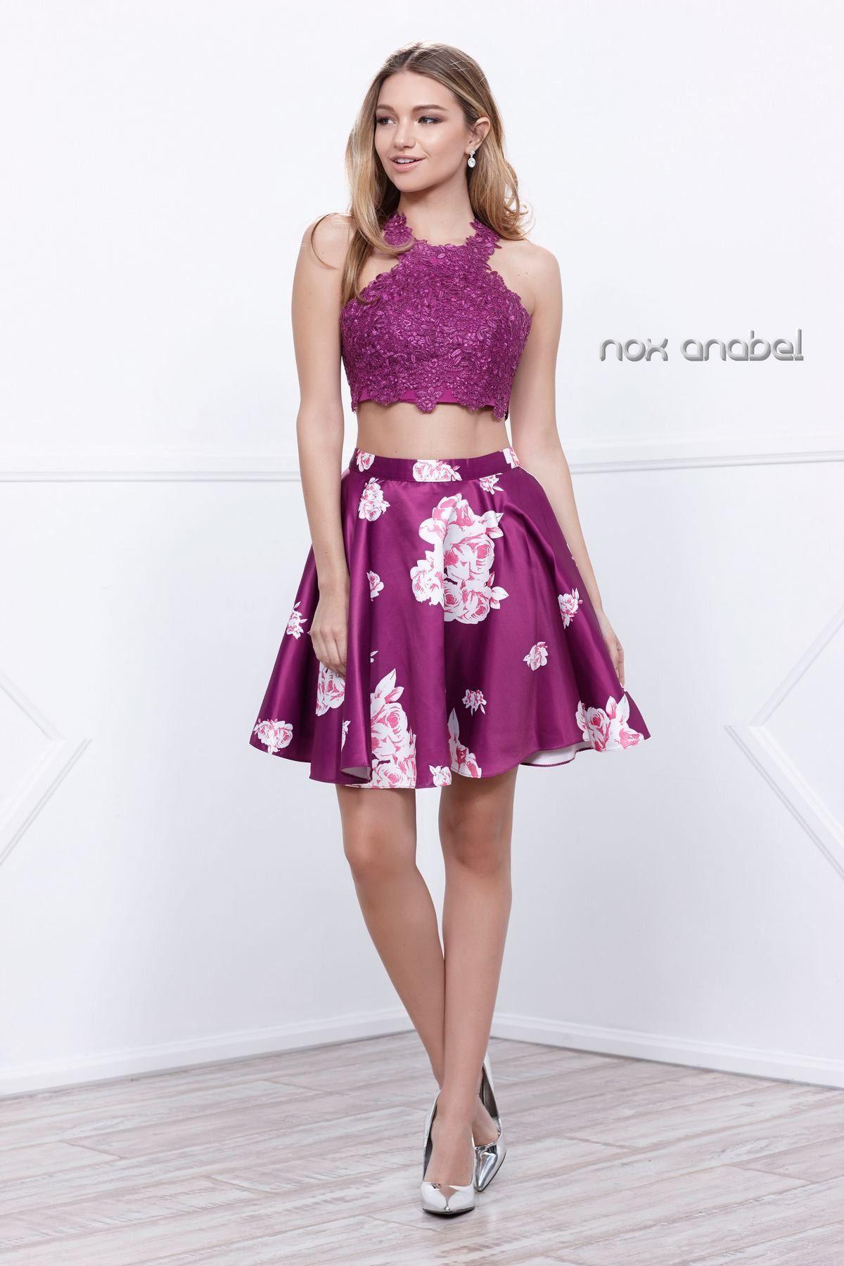 Two Piece Short Formal Dress Homecoming 2018 | Short formal ...