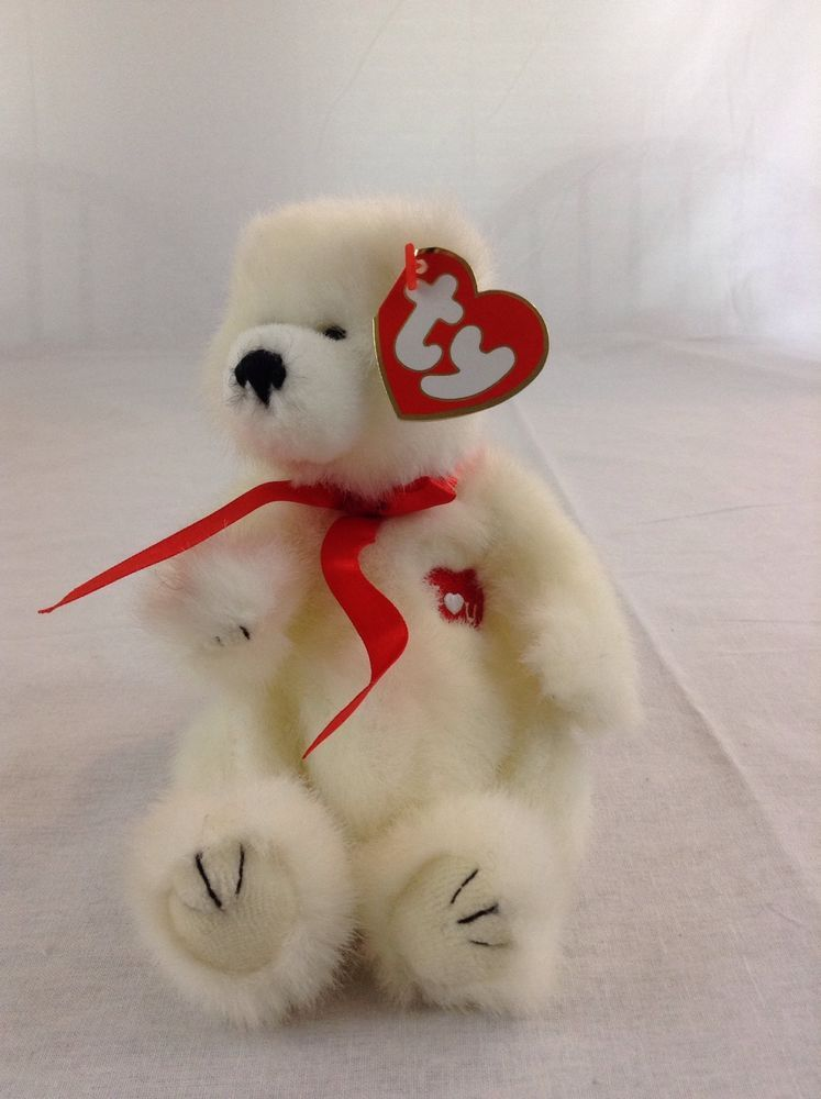 1993 Ty Beanie Baby Amore With All My Heart I Love You Bear Plush With Tags   Ty 034529e784f