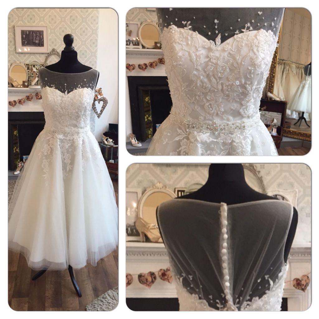 True Bride W169 Tea Length Wedding Dress Size 14 Www