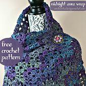 Ravelry: Midnight Aura Wrap pattern by Oombawka Design
