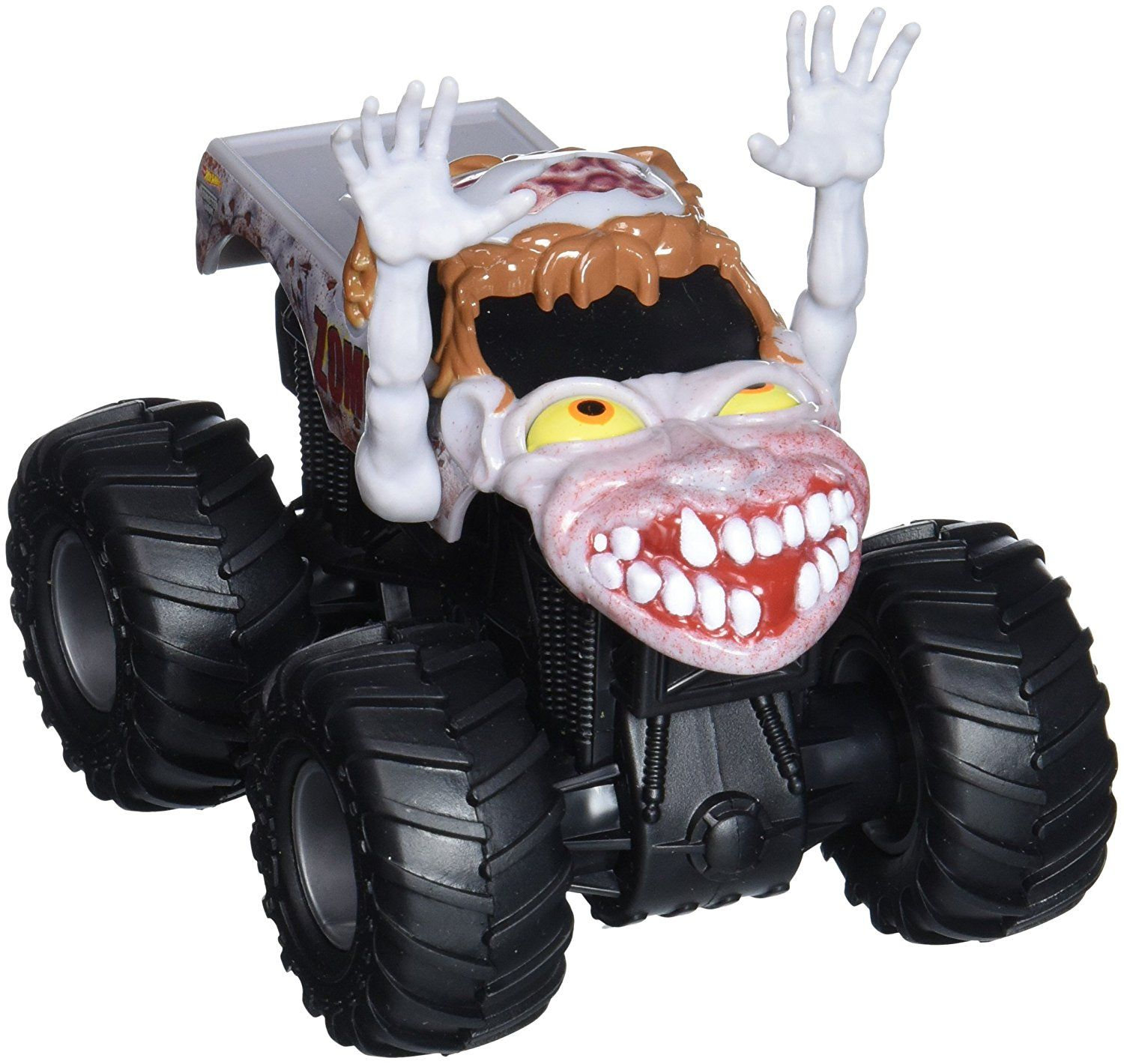Amazon Com Hot Wheels Monster Jam Rev Tredz Zombie Vehicle 1 43 Scale Toys Games Hot Wheels Monster Jam Zombie Vehicle Hot Wheels