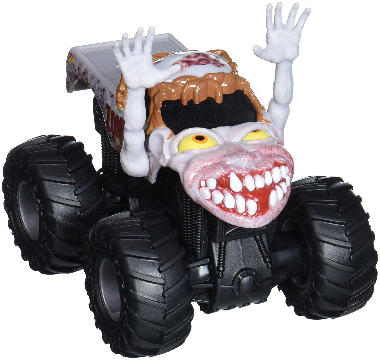 Amazon Com Hot Wheels Monster Jam Rev Tredz Zombie Vehicle 1 43