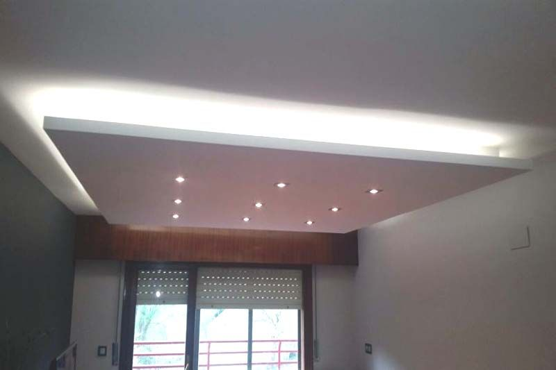 Trabajo pladur techo suspendido pladur pydes - Poner techo de pladur ...